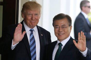El Presidente de EEUU, Donald Trump, y su par de Corea del Sur, Moon Jae-in.