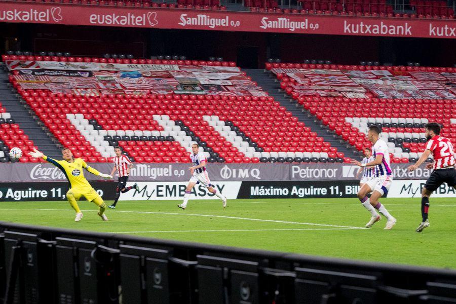 Real Valladolid rescató un empate frente al Athletic.