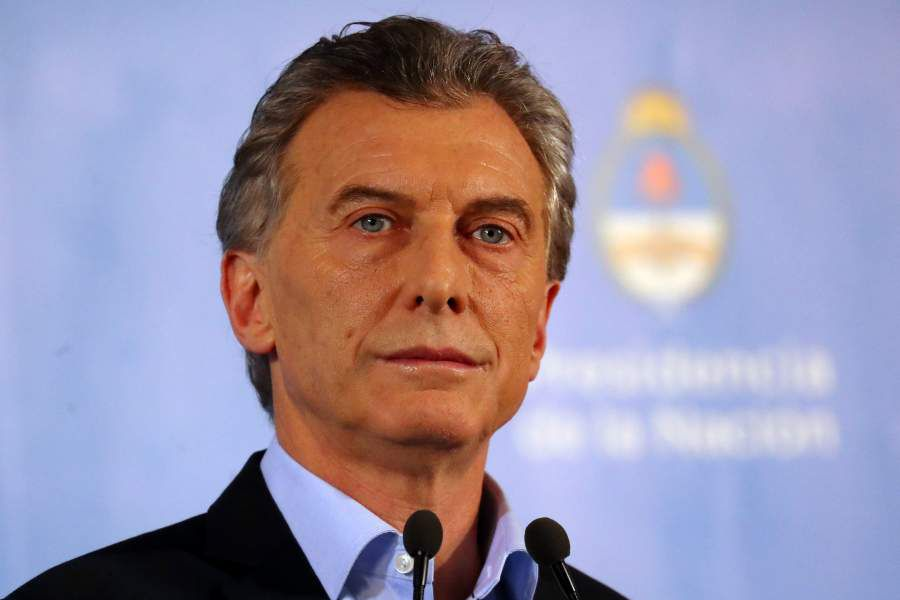 Argentina¿s President Macri pauses during a news conference at the Olivos Presidential Residence in Buenos Aires