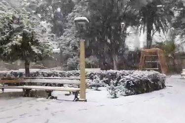 Impresionante jornada de nieve sorprende a los habitantes de Valle del Elqui