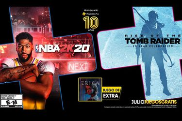 PlayStation Plus: Rise of the Tomb Raider y NBA 2K20 son los juegos gratis de julio