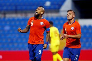 Vidal queda a un gol de Caszely para ser el quinto goleador histórico de la Roja