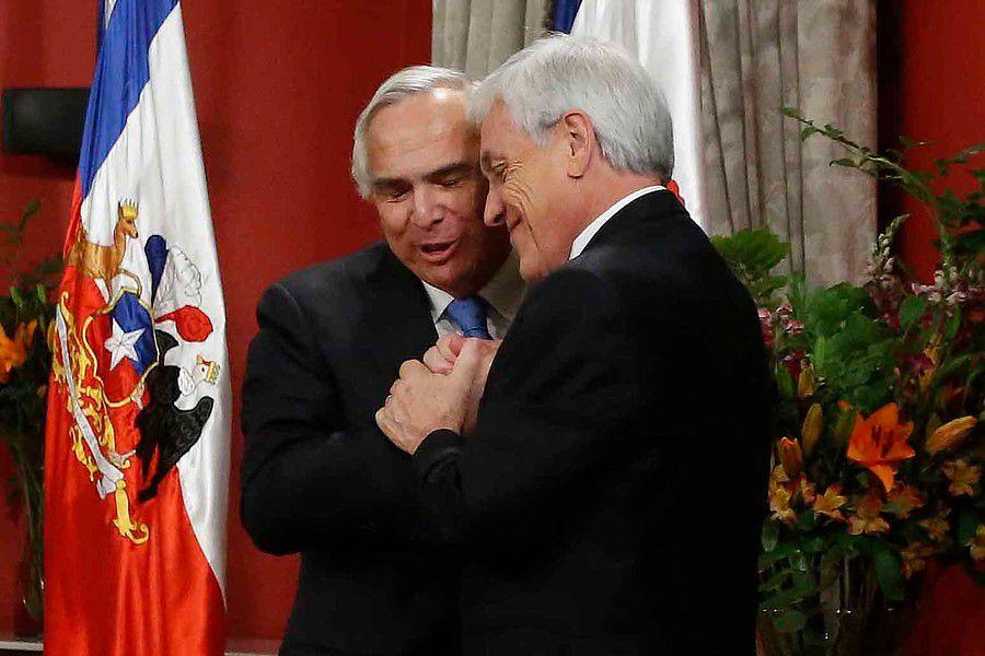 Andrés Chadwick y Sebastián Piñera
