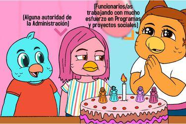 Contralorito se sumó al meme de la niña del pastel para hablar de los recursos públicos