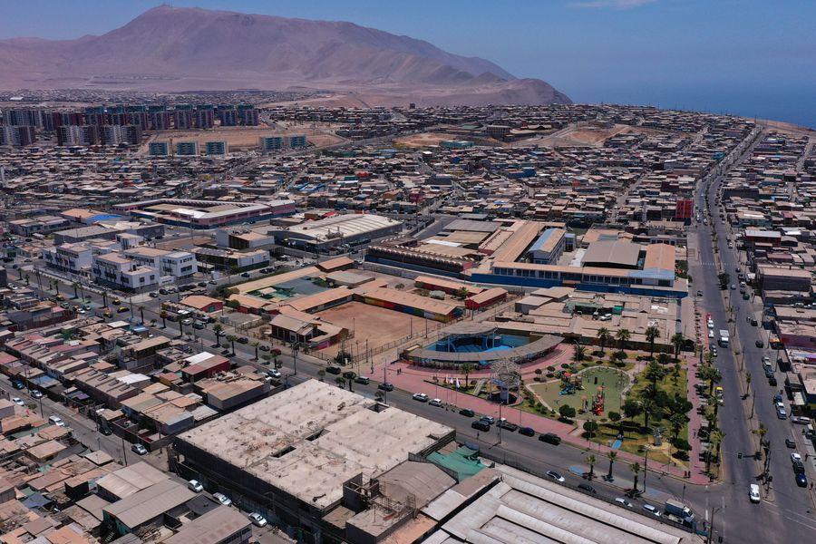 Alto Hospicio, en la Región de Tarapacá. En esta zona, todas las comunas tienen una tasa de incidencia de activos sobre la centena.