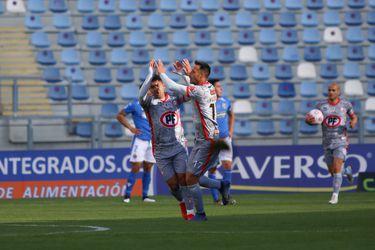 Christian Vilches celebra su gol ante Audax Italiano. Foto: AgenciaUno.