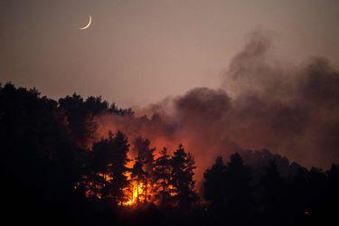 Bomberos controlan lentamente el incendio de la isla griega de Eubea