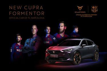 El Cupra Formentor se convierte en el auto oficial de Vidal y compañía en el Barcelona