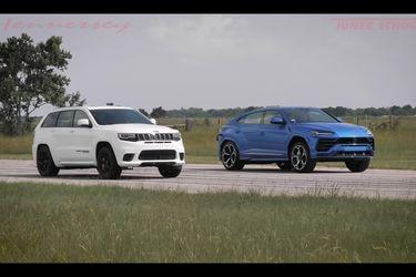 Uno solo gana: el Lamborghini Urus se bate a duelo con el Jeep Grand Cherokee Trackhawk