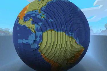 Un jugador de Minecraft creó un modelo de la Tierra en tamaño real
