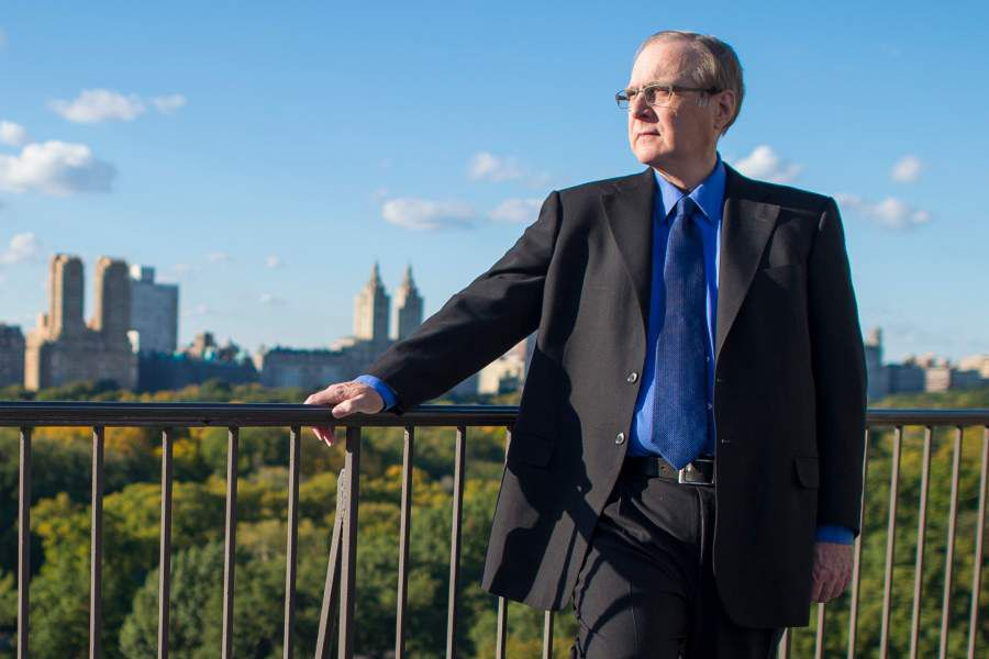Paul Allen, the Microsoft billionaire and philanthropist, on his terrace at home in New York/