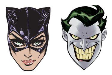 mascaras joker catwoman