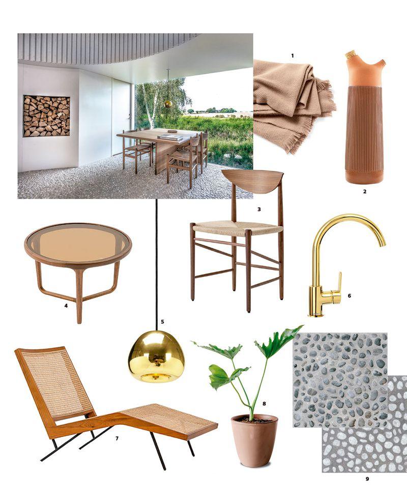 imagen con objetos inspirados en la casa