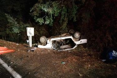 Colisión frontal de vehículos deja cuatro personas fallecidas en la ruta que une Lautaro con Curacautín en La Araucanía