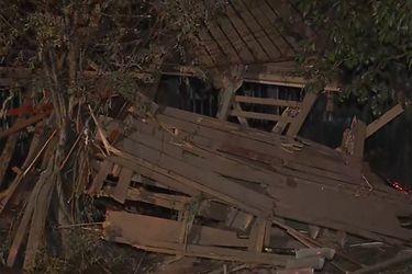 Explosión por gas deja vivienda destruida y tres personas heridas en El Bosque