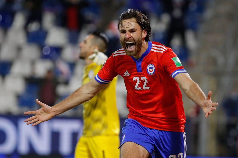 Ben Brereton celebra el 1-0 de Chile. Sigue los detalles del partido entre la Selección Chilena y Paraguay.