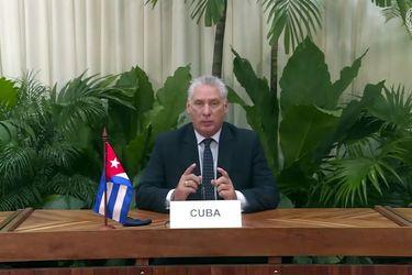 """Presidente cubano cuestiona la cobertura de las protestas en la isla: """"Lo que está viendo el mundo de Cuba es una mentira"""""""