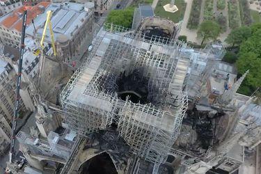 Las secuelas del incendio en Notre Dame miradas desde un drone