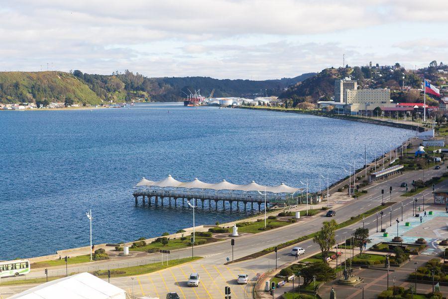 Vista de Puerto Montt, capital de la Región de Los Lagos.