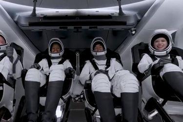 Turistas espaciales de la SpaceX pasaron su primera jornada en órbita: realizaron investigaciones científicas y hablaron con niños de hospital oncológico
