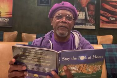 """Stay the fuck at home"": Samuel L. Jackson leyó un poema para promover el distanciamiento social"
