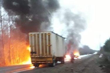 Ataque incendiario en Collipulli deja trabajador herido y millonarias pérdidas  en maquinarias forestales