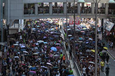Protestas antigubernamentales en Hong Kong (AFP)