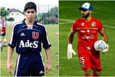 Jhonny Herrera al inicio de su carrera como futbolista (izquierda) y en sus últimos días como profesional (derecha). Foto: Agencia Uno.