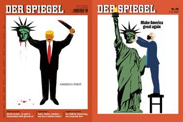 Trump, Der Spiegel y Biden: historia de dos portadas explosivas