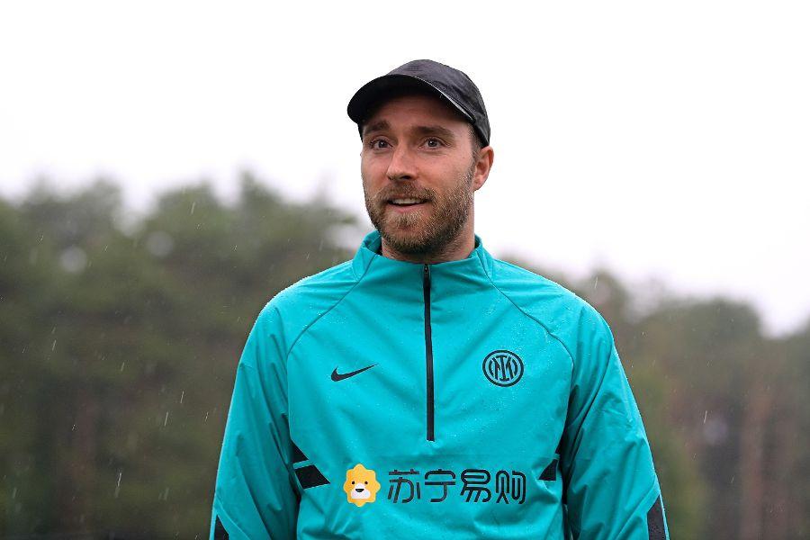 Christian Eriksen, en el complejo del Inter.