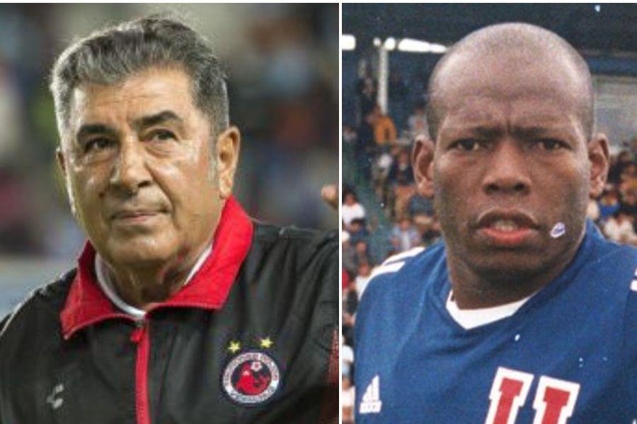 El histórico chileno Carlos Reinoso y el ex astro colombiano Faustino Asprilla.