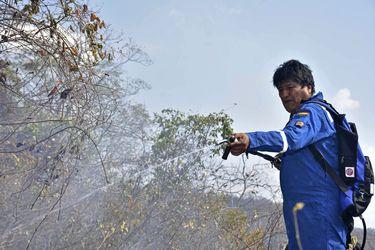 El Presidente de Bolivia Evo Morales ayer en Roboré. FOTO: AP