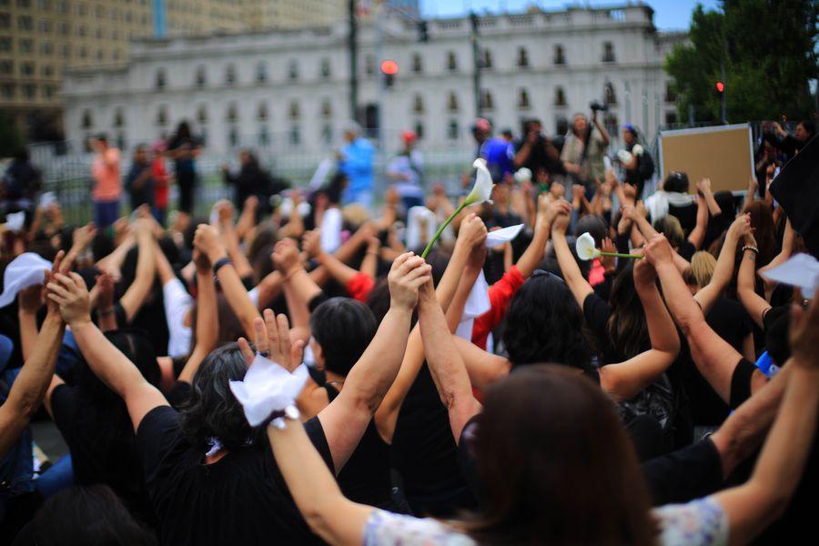 Marcha de Mujeres de luto