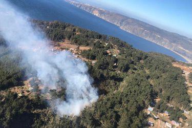 Onemi decreta alerta amarilla comunal tras incendio forestal en Laguna Verde