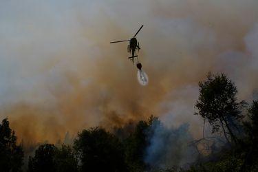 Declaran alerta roja en dos comunas de La Araucanía por incendio forestal cercano a sectores habitados