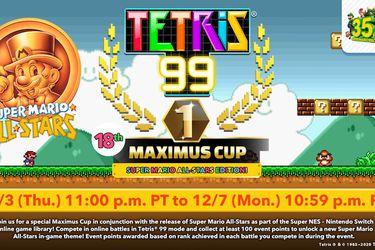 Tetris 99 celebra el 35° Aniversario de Mario con un evento de Super Mario All-Stars