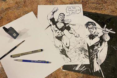 Los dibujos que Jim Lee está publicando en Instagram serán recopilados en un libro en beneficio de tiendas de cómics