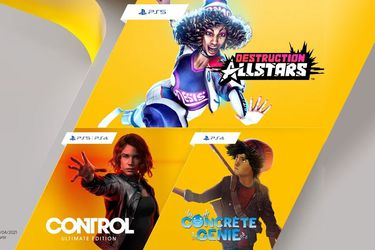 PS Plus sumará en febrero a Destruction AllStars, Control: Ultimate Edition y Concrete Genie