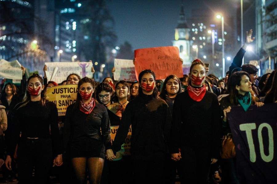 Marcha feminista contra la violencia machista
