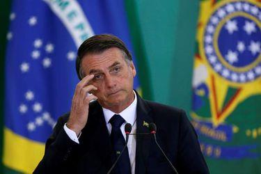 FILE PHOTO: Brazil's President Bolsonaro attends ceremony at Planalto Palace in Brasilia