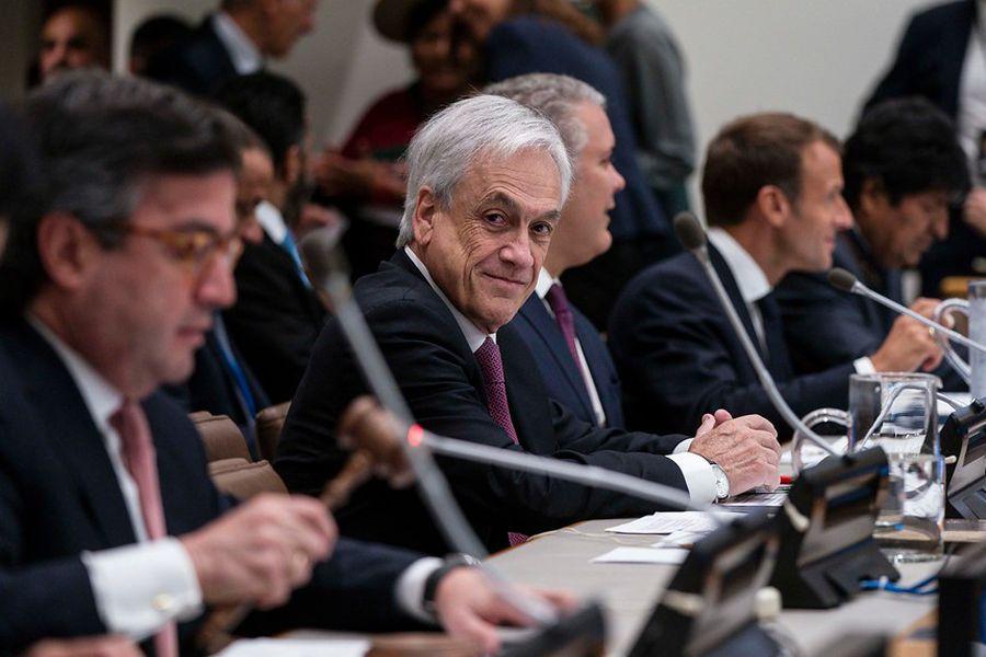 El Presidente Sebastián Piñera en la sede de la ONU.