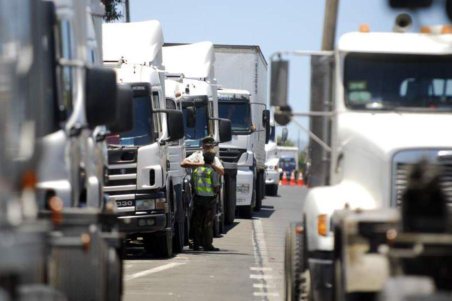 Camiones en Paro Lo Vasquez