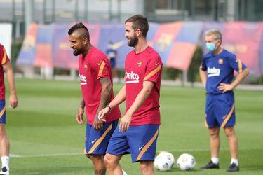 Arturo Vidal vuelve a entrenar con el Barcelona