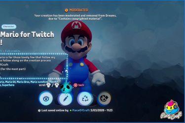 Sony retira versión de Mario hecha en Dreams tras quejas de Nintendo
