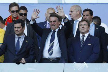 Jair Bolsonaro asiste a la final de la Copa América