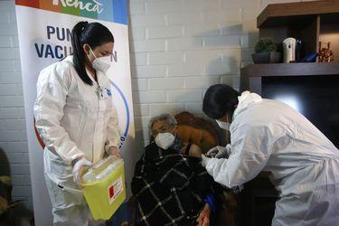 Vacunación a domicilio en Renca.