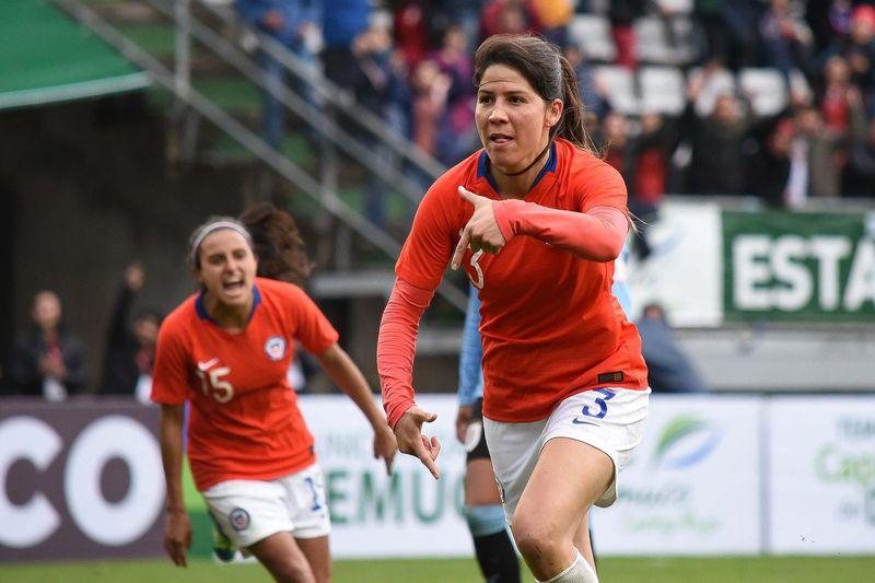 Carla Guerrero, en un amistoso frente a Uruguay.