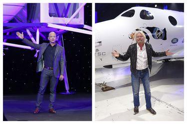 Richard Branson adelanta a Jeff Bezos en la carrera al espacio, mientras el Covid-19 golpea sus negocios en la Tierra