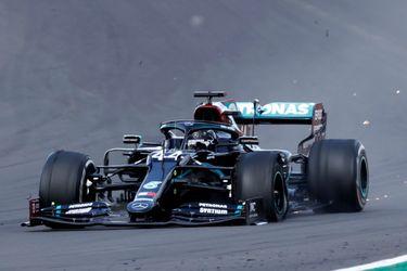 Hamilton gana en tres ruedas el accidentado Gran Premio de Silverstone