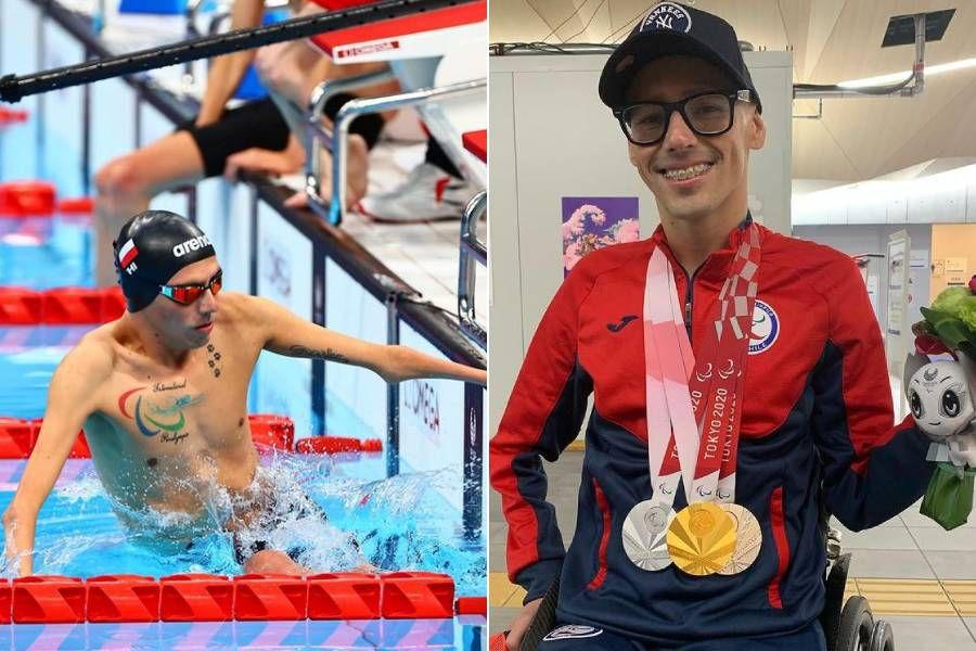 Alberto Abarza consiguió una medalla de oro y dos de plata en su participación en los Juegos Paralímpicos de Tokio 2020.